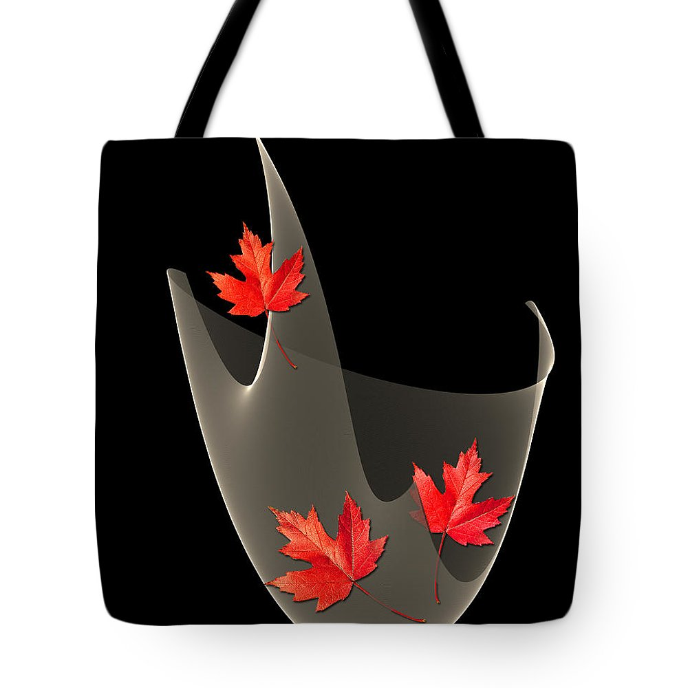 Maple Leaves Tote Bag featuring the painting Woven Maple Leaves by Barbara Milton