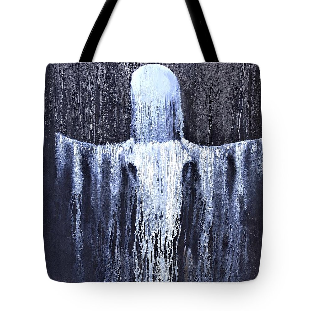 Inspirational Tote Bag featuring the painting Wovoka's Dream by Patrick Trotter