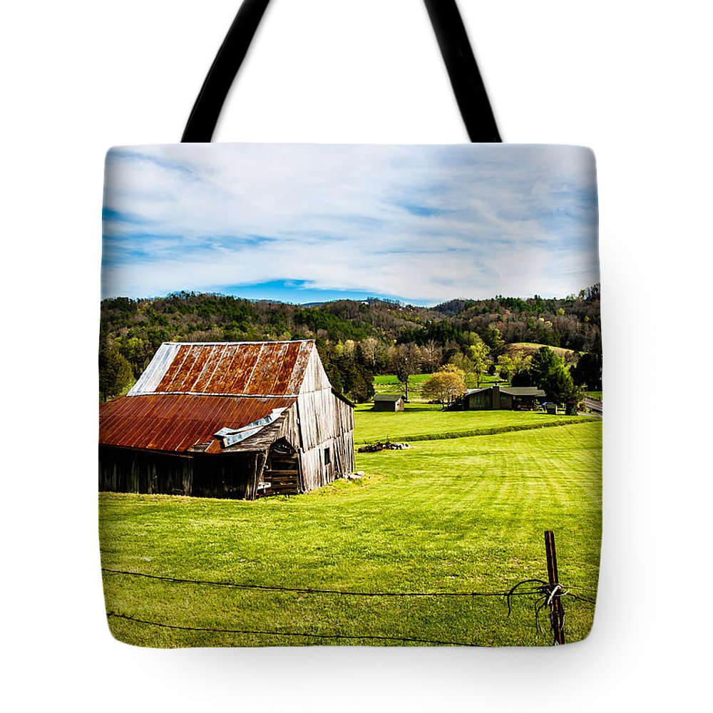 Landscape Tote Bag featuring the photograph Wow - The Grass Is Greener On The Other Side by Robert L Jackson
