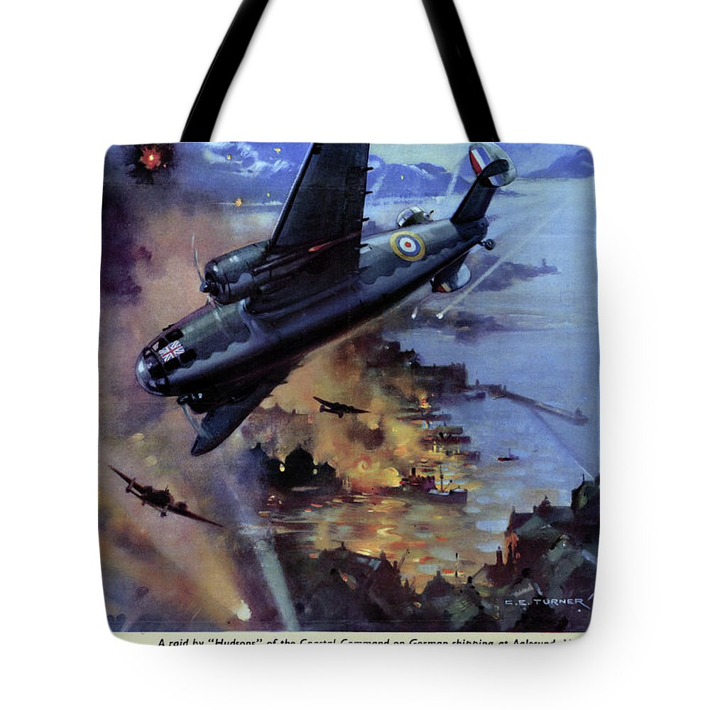 1942 Tote Bag featuring the drawing Wwii Royal Air Force, C1942 by Granger