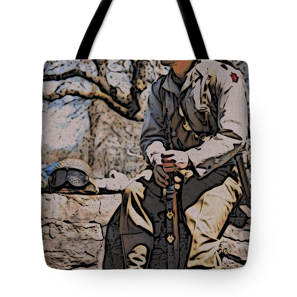 Wwii Soldier Tote Bag featuring the photograph Wwii Soldier Two by Alice Gipson