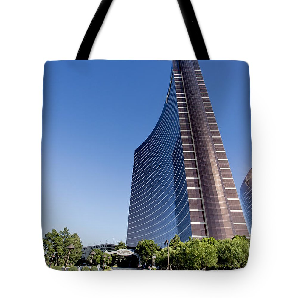 Wynn Tote Bag featuring the photograph Wynn And Encore Hotels by Sv