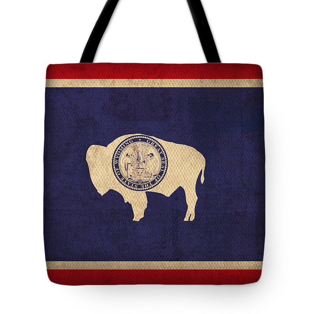 Wyoming Mixed Media Tote Bags