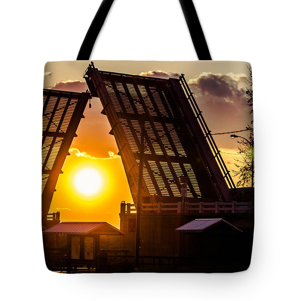 Drawbridge Tote Bag featuring the photograph X-ray Vision by Tyson Kinnison