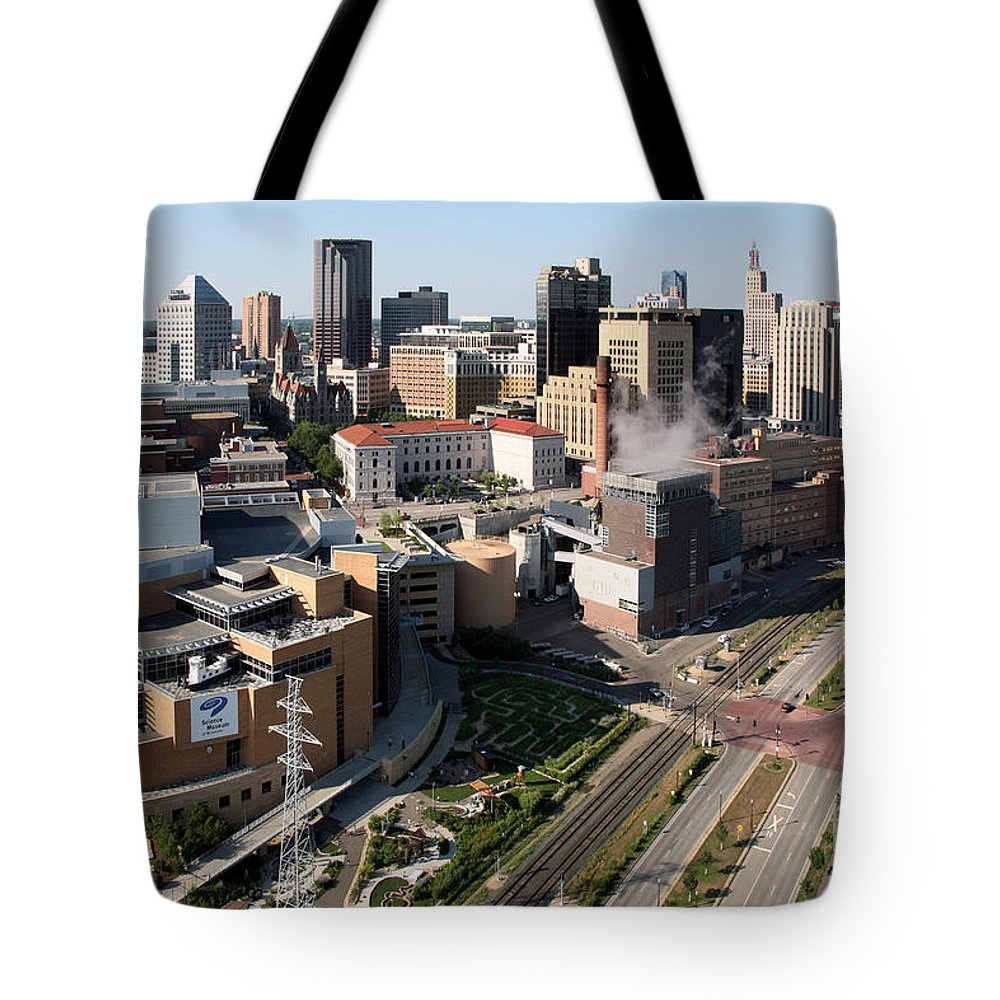 1st National Bank Tote Bag featuring the photograph Xcel Energy Center St. Paul Minnesota by Bill Cobb