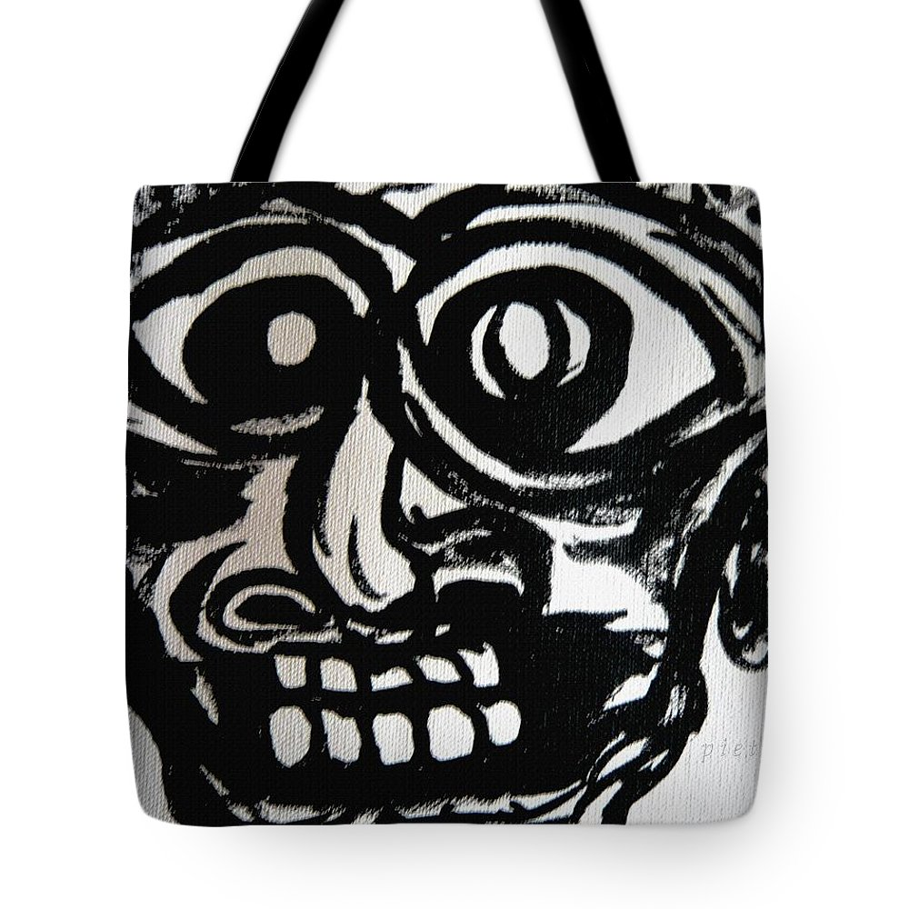 Man Tote Bag featuring the painting Xpressionz 12 by Piety Dsilva