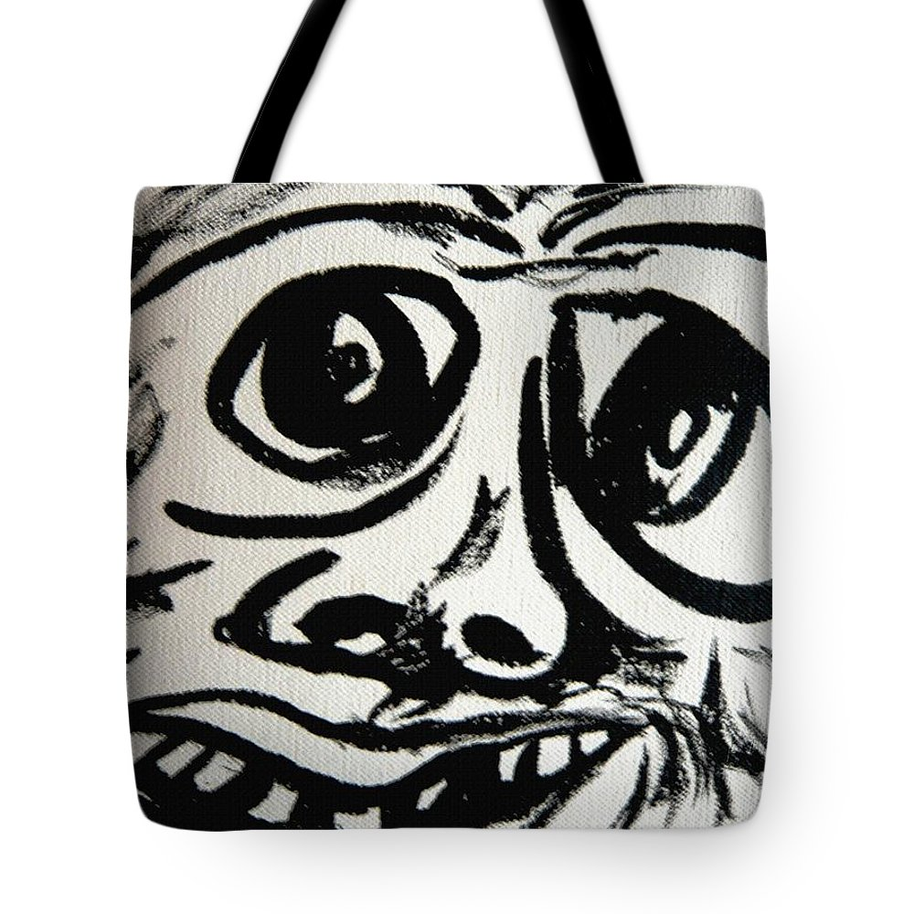 Man Tote Bag featuring the painting Xpressionz 13 by Piety Dsilva
