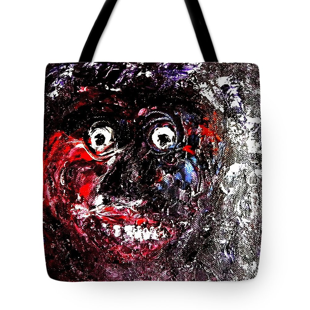 Man Tote Bag featuring the painting Xpressionz 14 by Piety Dsilva