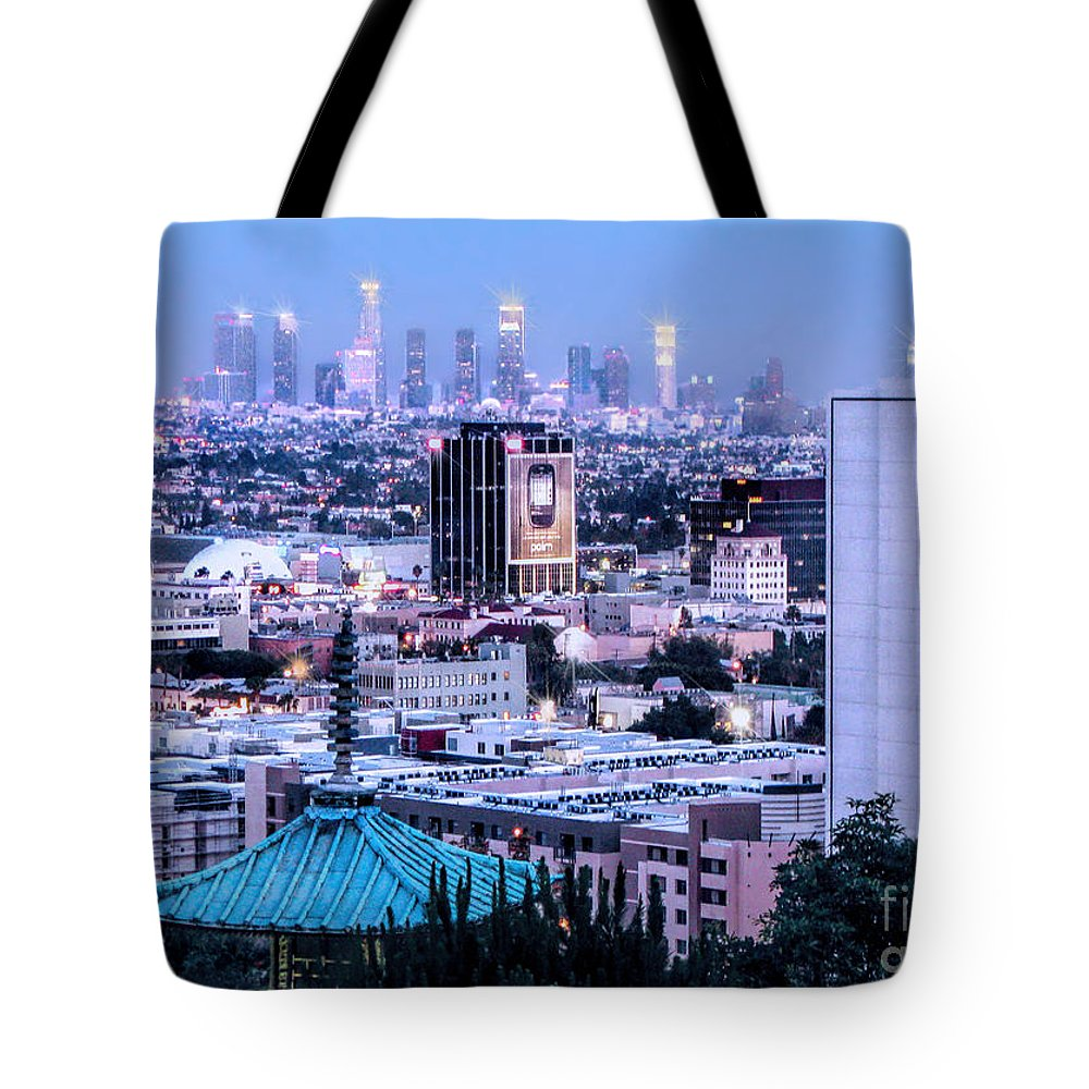 Yamashiro Tote Bag featuring the photograph Yamashiro View Of La by Jennie Breeze