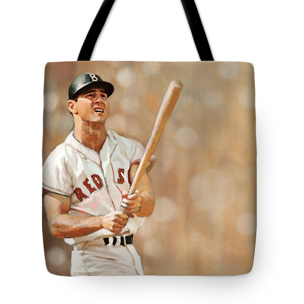Carl Yastremski Tote Bag featuring the painting Yaz by Noah Stokes