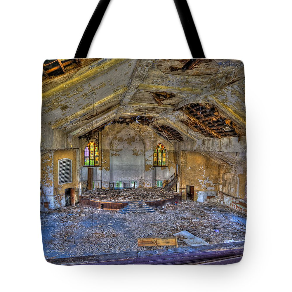 1917 Tote Bag featuring the photograph Years Of Abuse #2 by Paul Cannon
