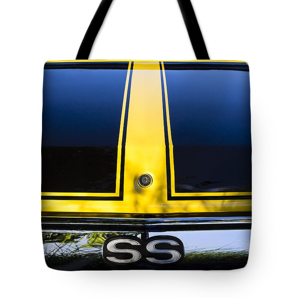1971 Tote Bag featuring the photograph Yellow '71 Ss by Dennis Hedberg