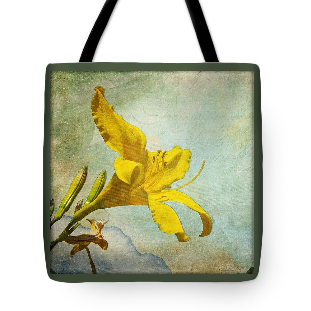 Garden Tote Bag featuring the photograph Yellow Asiatic Lilly Iv by AGeekonaBike Fine