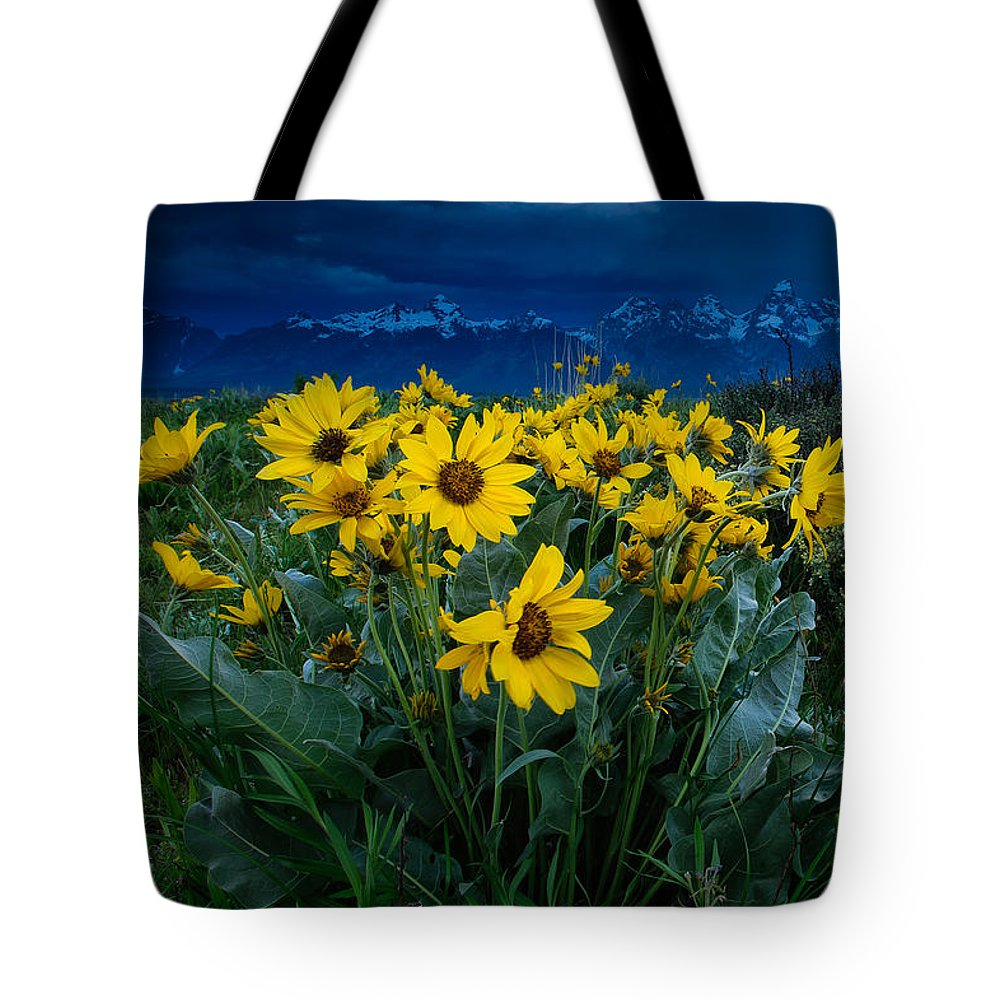 Summer Tote Bag featuring the photograph Yellow Bouquet by Charlie Choc