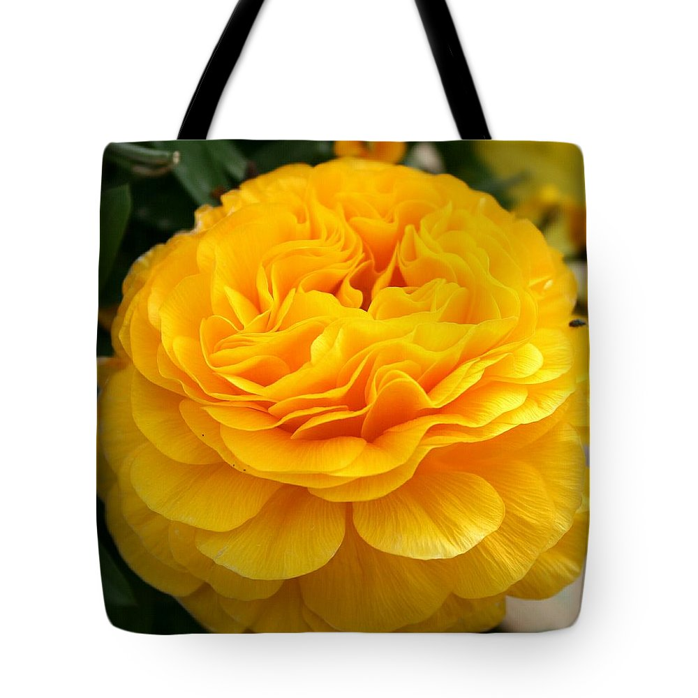 Buttercup Tote Bag featuring the photograph Yellow Buttercup by Christiane Schulze Art And Photography