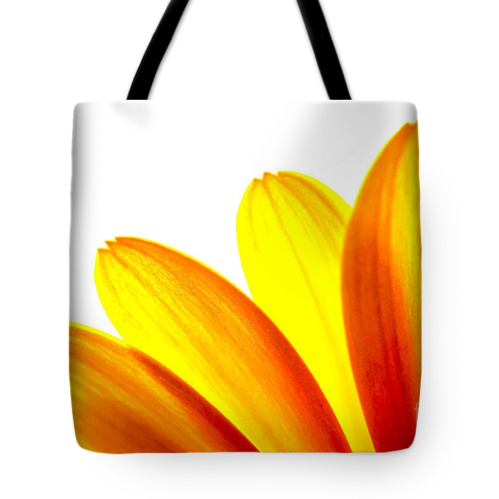 Nature Tote Bag featuring the photograph Yellow Daisy Petals Macro by Brian Raggatt