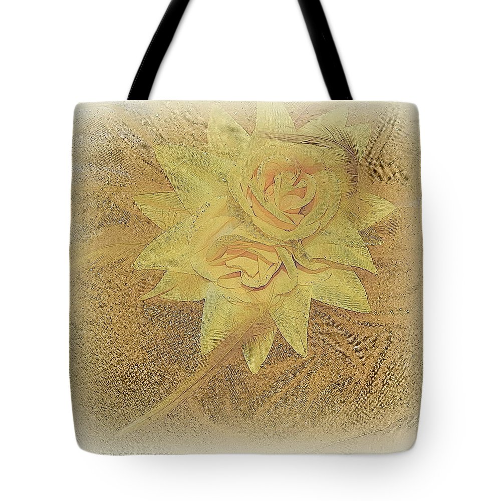 Hat Tote Bag featuring the photograph Yellow Fascinator With Feathers by Kathy Barney