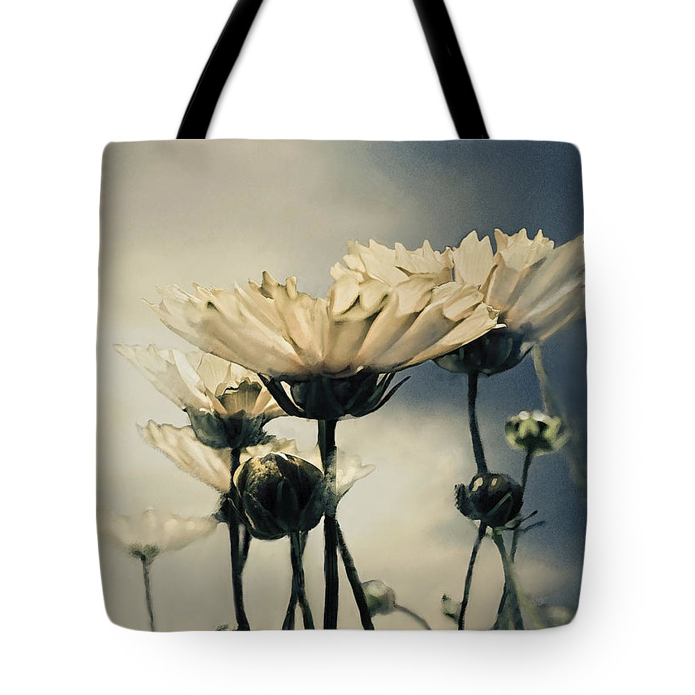 Daisy Tote Bag featuring the photograph Yellow Gerber Daisy by Bonnie Willis