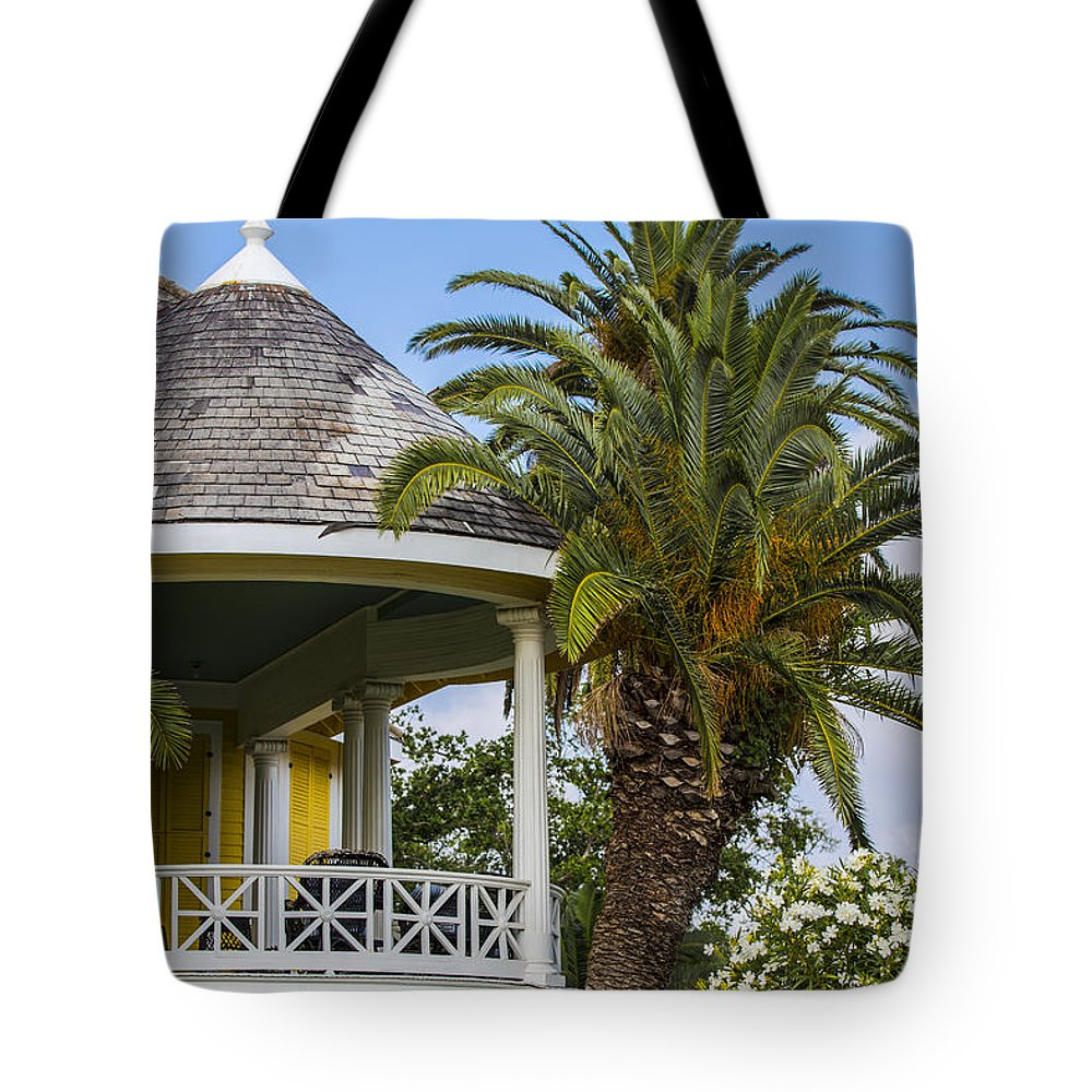 Galveston Tote Bag featuring the photograph Yellow House In Galveston Tx by John McGraw