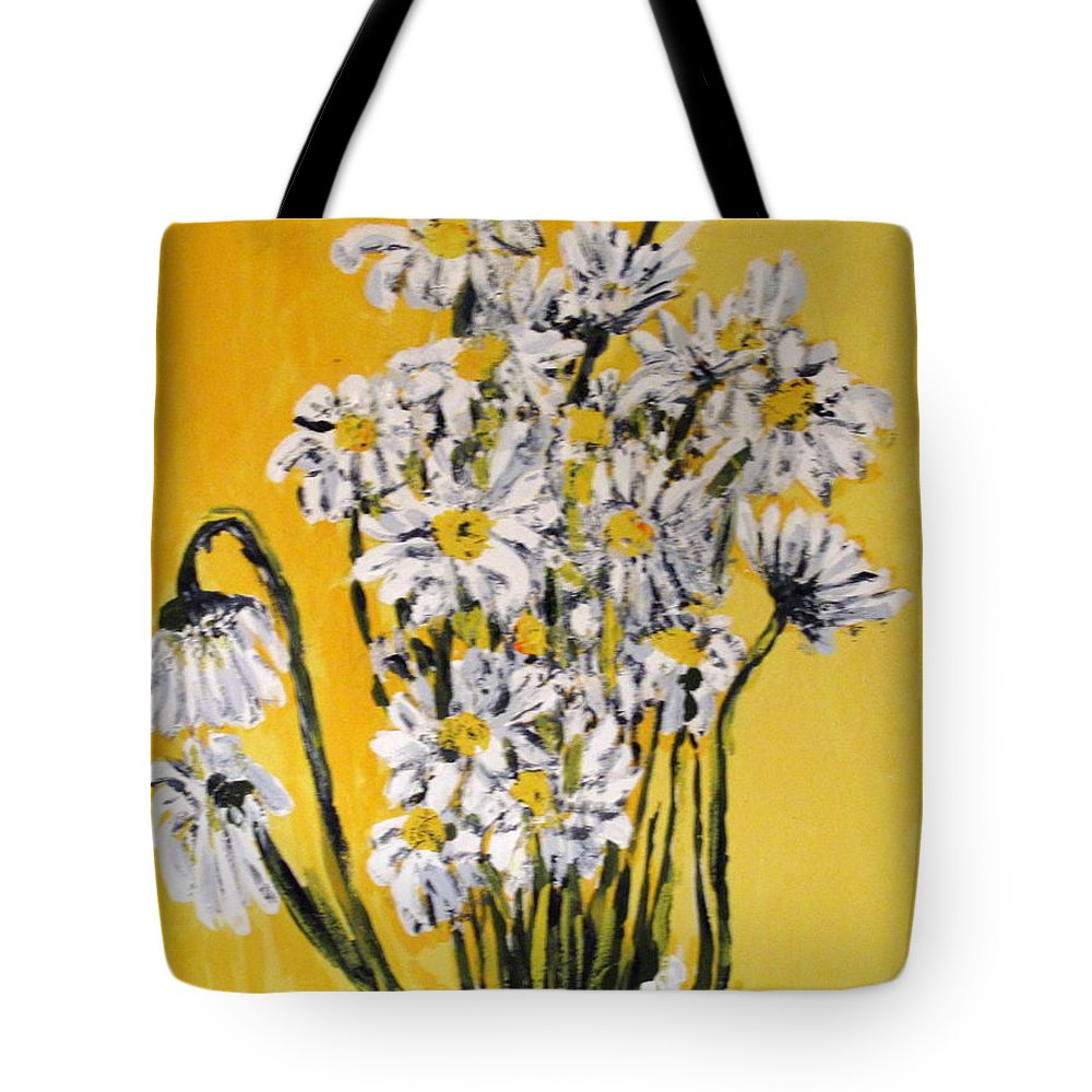 Daisy Tote Bag featuring the painting Yellow by Ian MacDonald