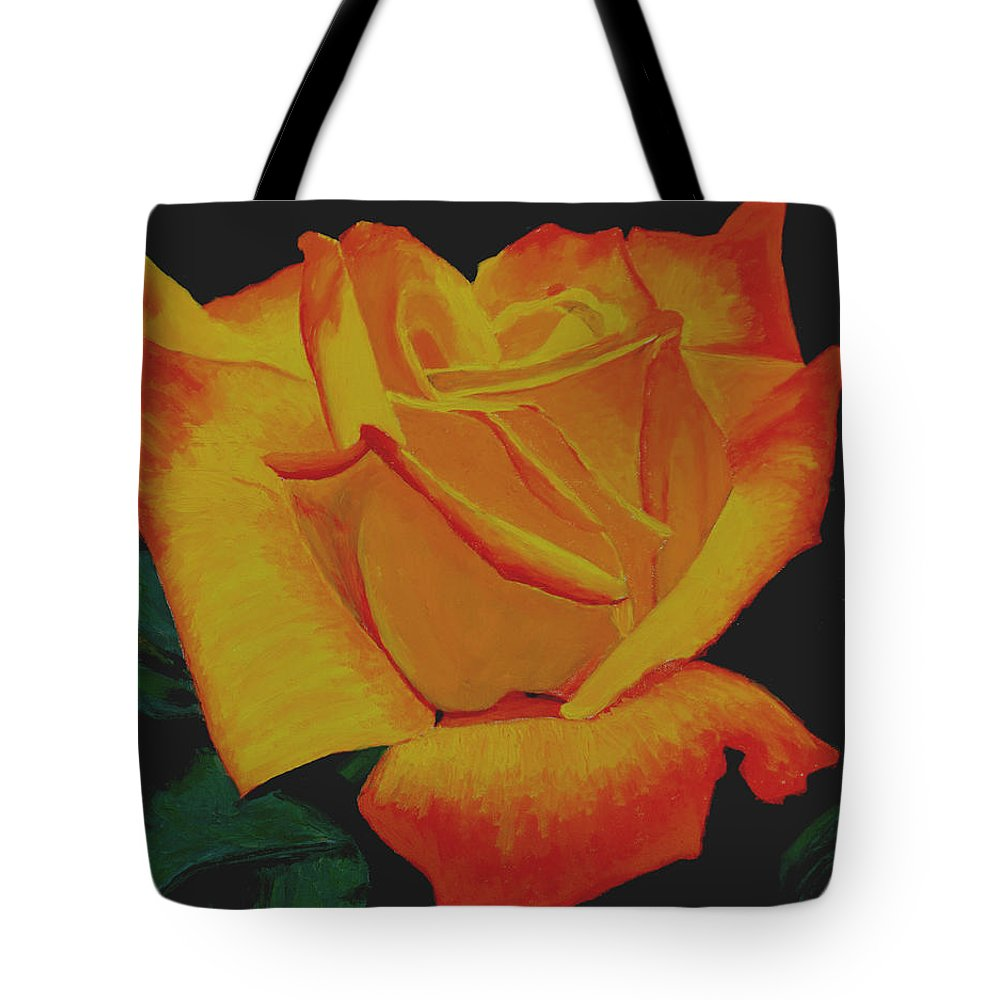 Yellow Rose Tote Bag featuring the painting Yellow Rose by Stan Hamilton