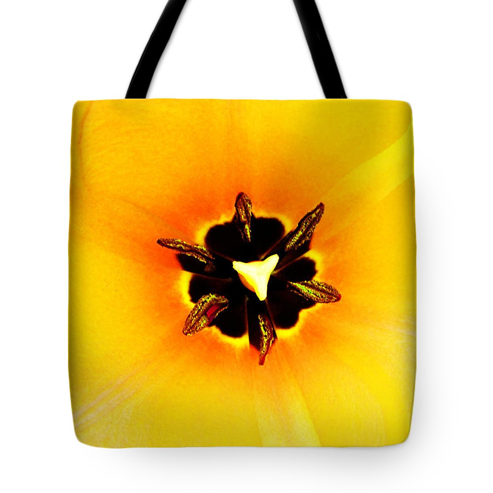 Flower Tote Bag featuring the photograph Yellow Tulip by Tina M Wenger