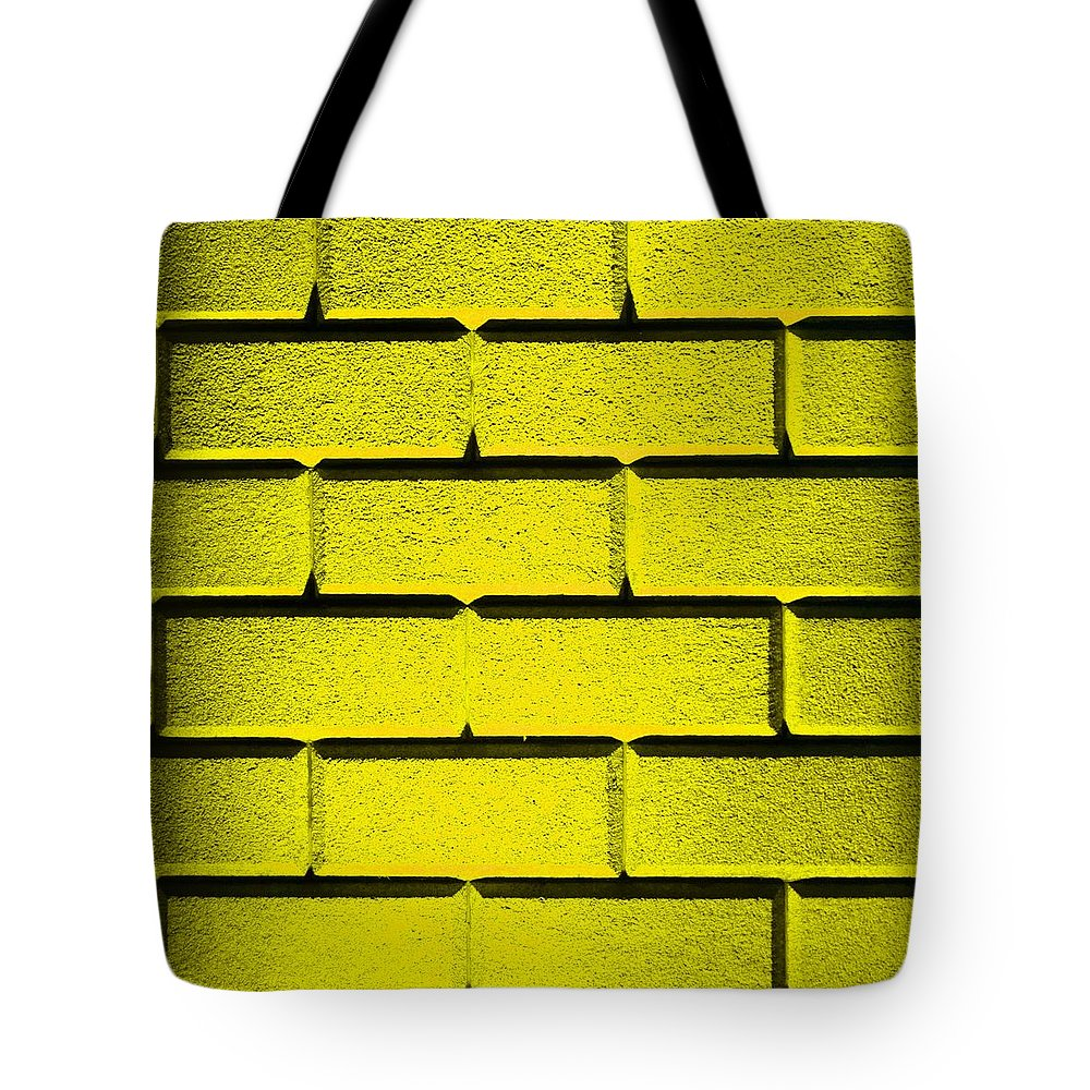 Yellow Tote Bag featuring the photograph Yellow Wall by Semmick Photo