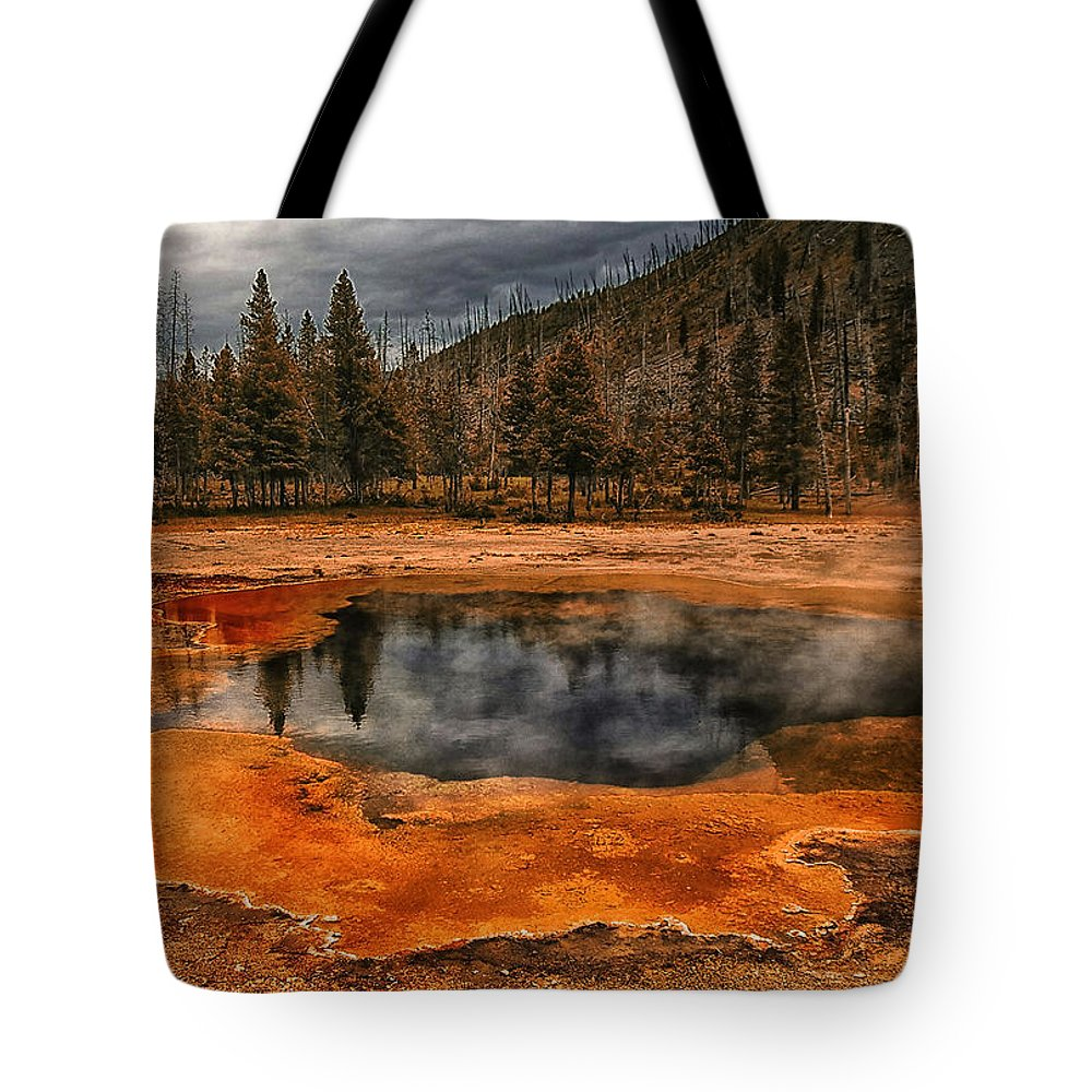 America Tote Bag featuring the photograph Yellowstone 3 by Ingrid Smith-Johnsen