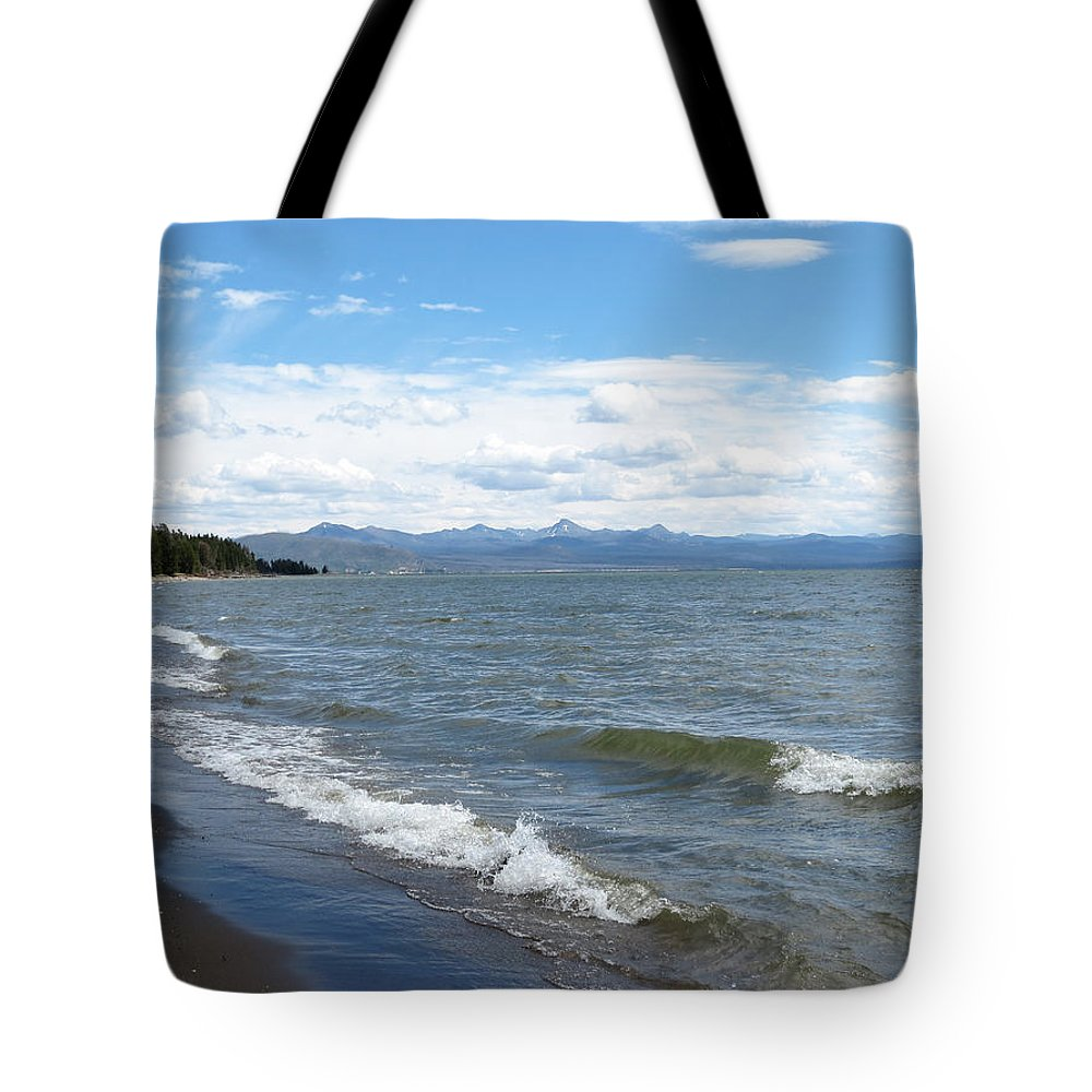 Yellowstone National Park Tote Bag featuring the photograph Yellowstone Lake by Laurel Powell