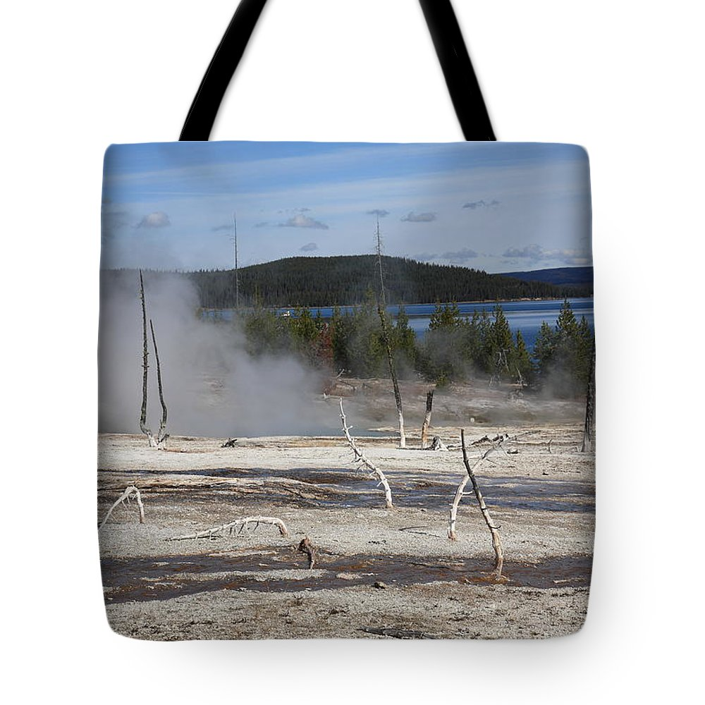 America Tote Bag featuring the photograph Yellowstone National Park - Hot Springs by Frank Romeo
