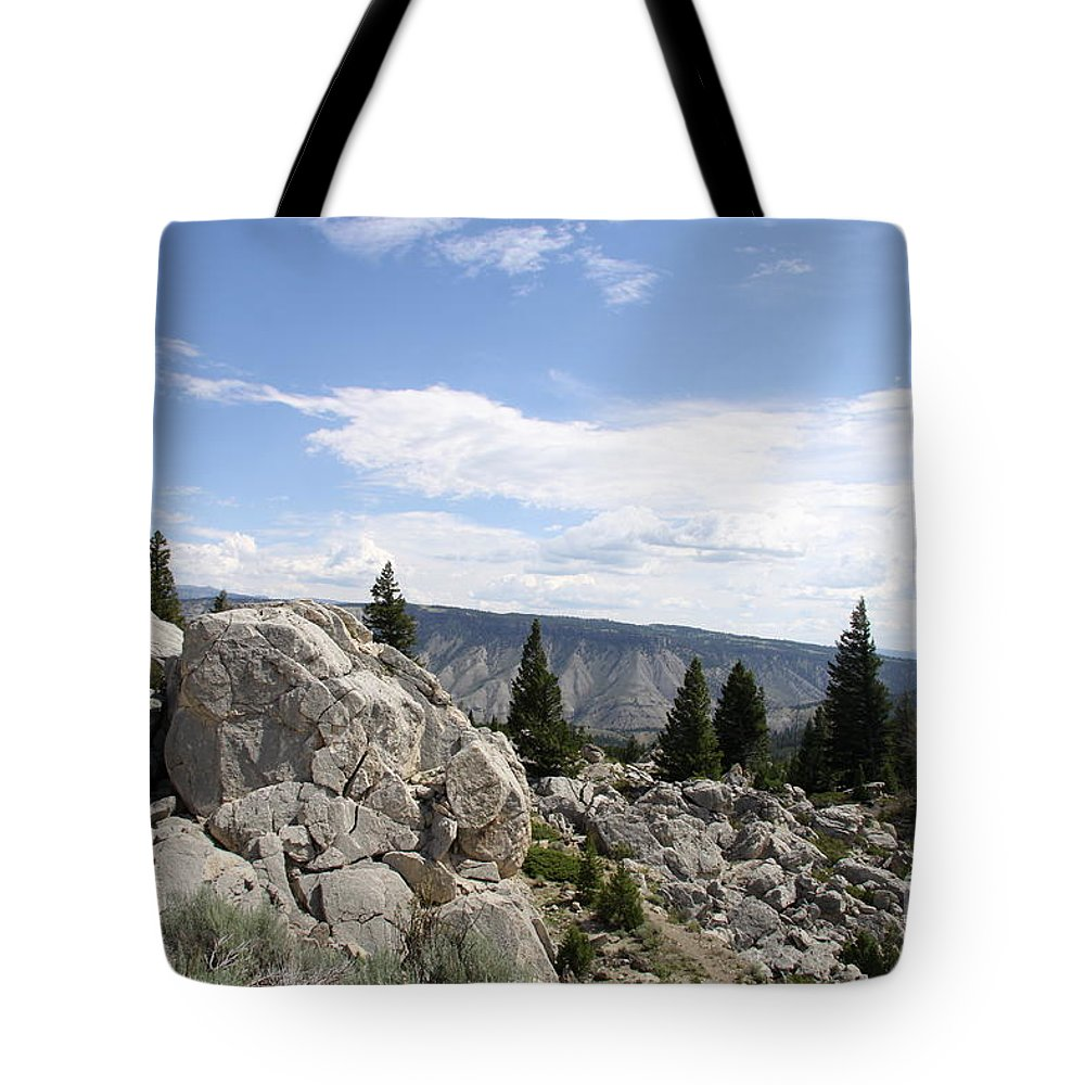Yellowstone Landscape Tote Bag featuring the photograph Yellowstone N P Landscape by Christiane Schulze Art And Photography