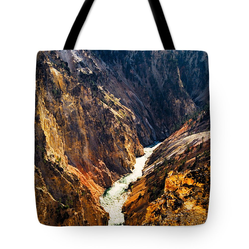 Yellowstone Tote Bag featuring the photograph Yellowstone River by Kathy McClure