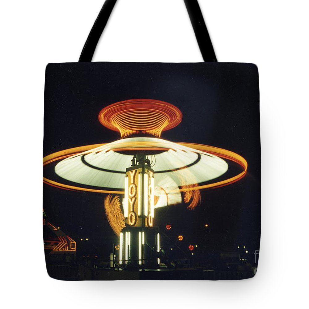 Carnival Tote Bag featuring the photograph Yo-yo Carnival Ride by Crystal Nederman