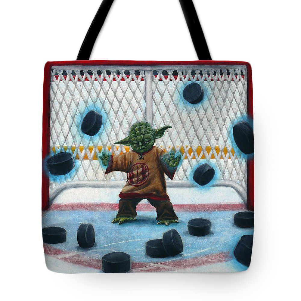 Star Wars Tote Bag featuring the painting Yoda Saves Everything by Marlon Huynh