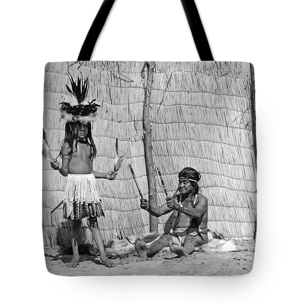 1920s Tote Bag featuring the photograph Yokut Medicine Man by Underwood Archives Onia