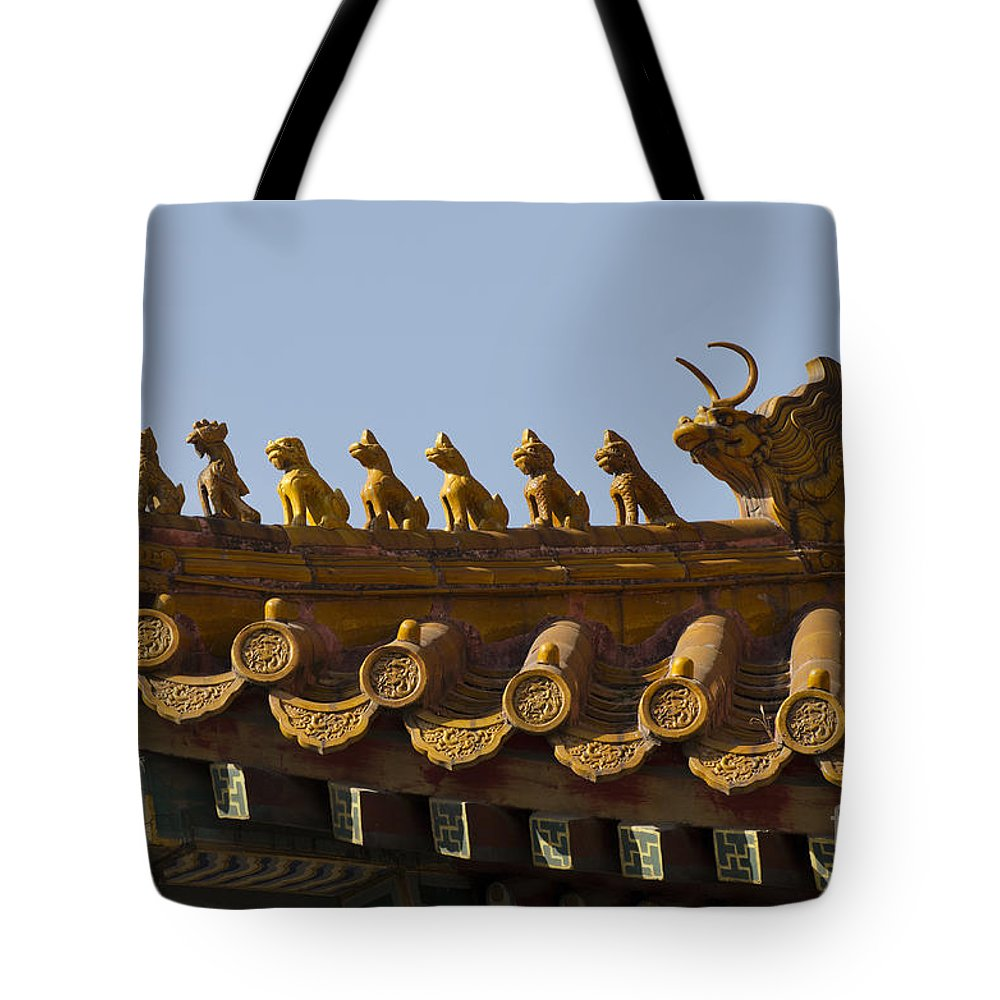 Buddhism Tote Bag featuring the photograph Yonghegong Lama Temple 9482 by Terri Winkler