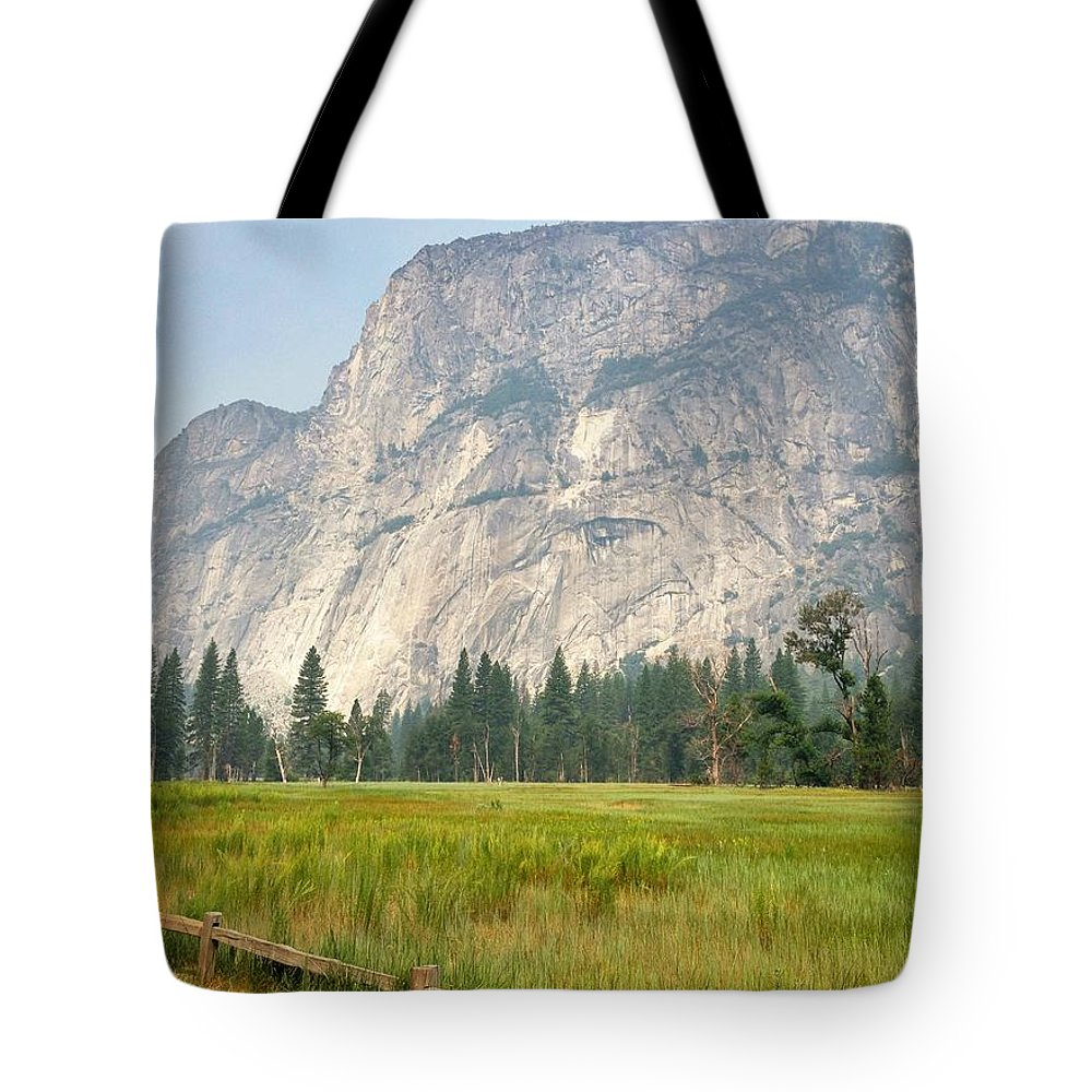 Yosemite National Park Tote Bag featuring the photograph Yosemite Meadow by Christine Owens