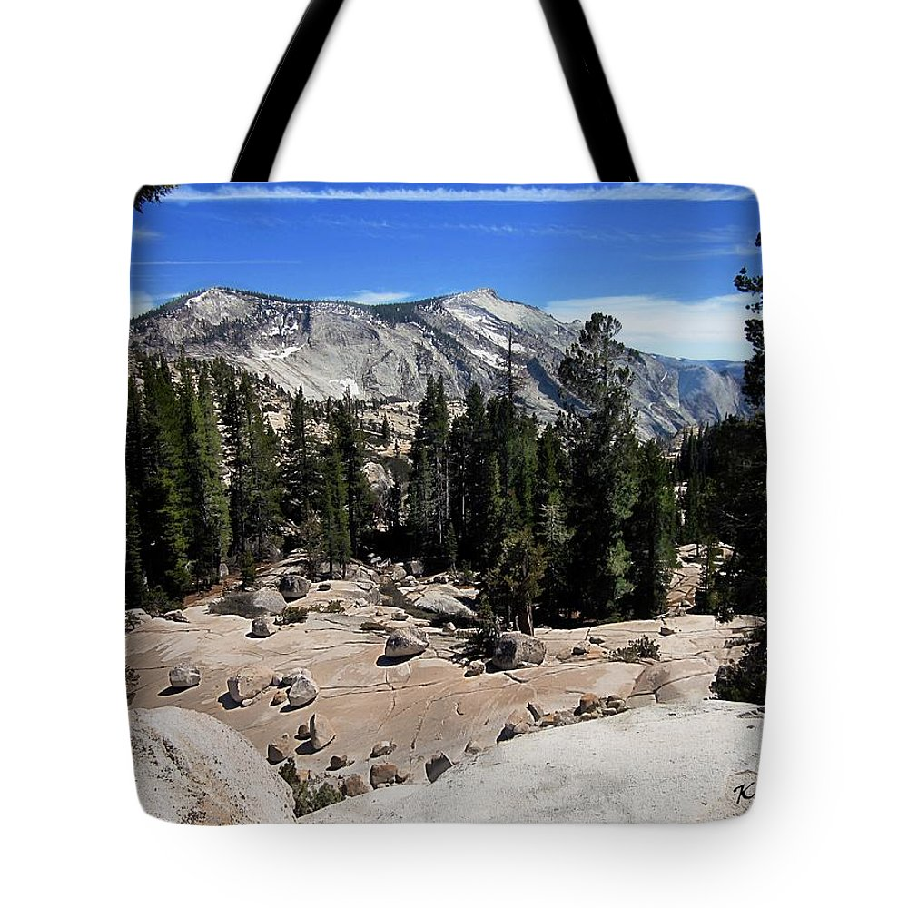 Yosemite National Park Tote Bag featuring the digital art Yosemite National Park by Kelly Schutz