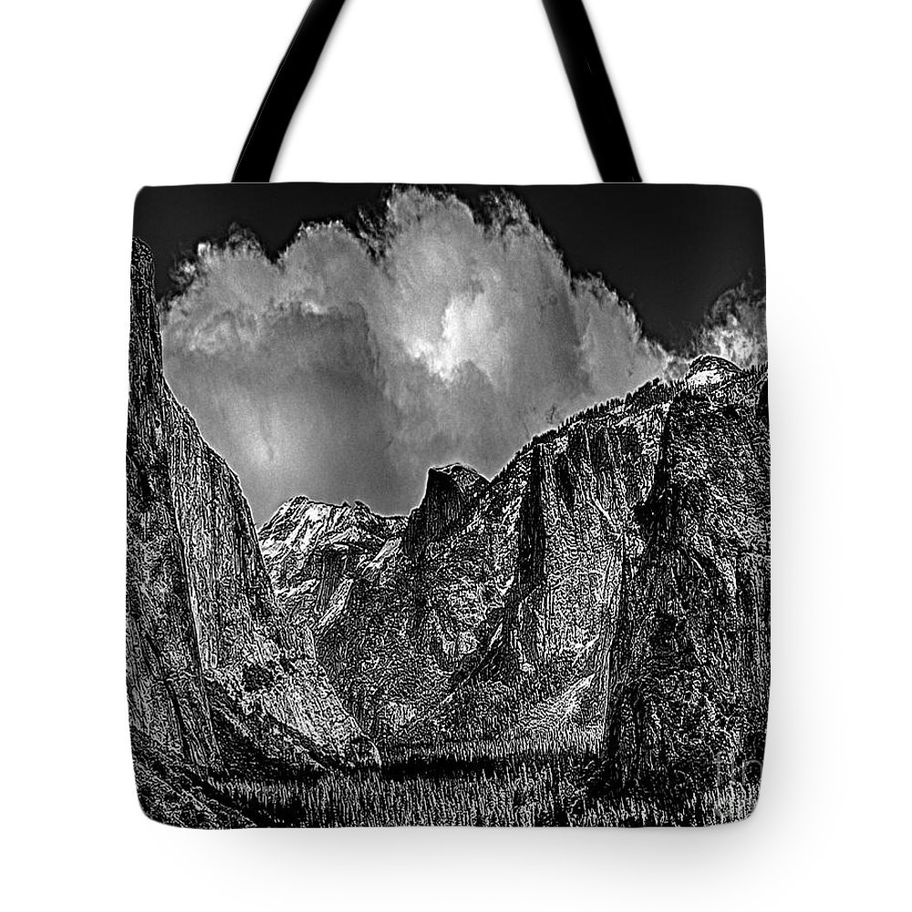 Yosemite National Park Tote Bag featuring the photograph Yosemite Valley From Tunnel by Bob and Nadine Johnston