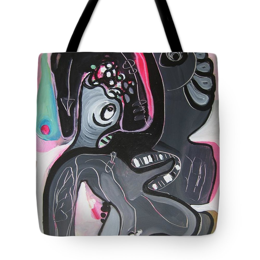 Couple Paintings Tote Bag featuring the painting You And I Are by Seon-Jeong Kim