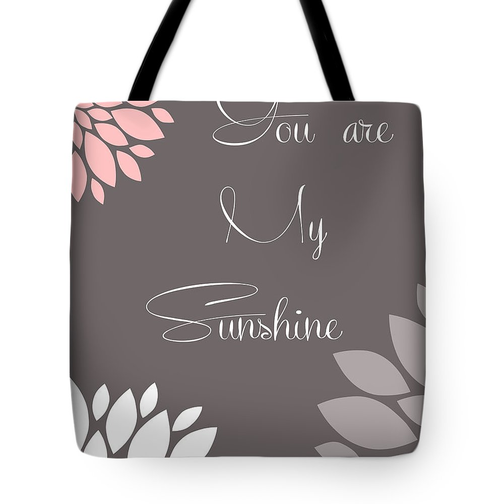 You Tote Bag featuring the digital art You Are My Sunshine Peony Flowers by Voros Edit