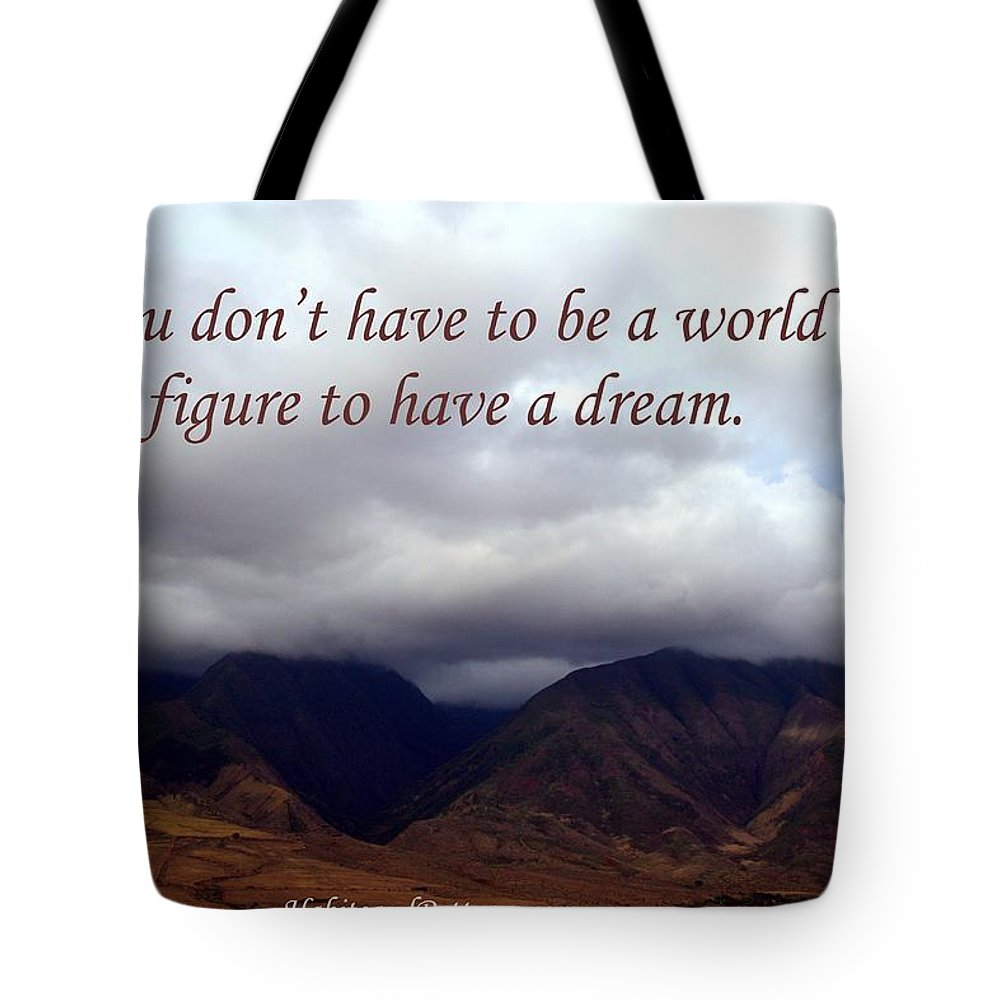 Habits And Patterns Tote Bag featuring the photograph You Do Not Have To Be by Pharaoh Martin