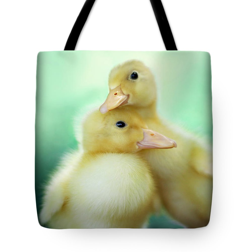 Duck Photographs Tote Bags