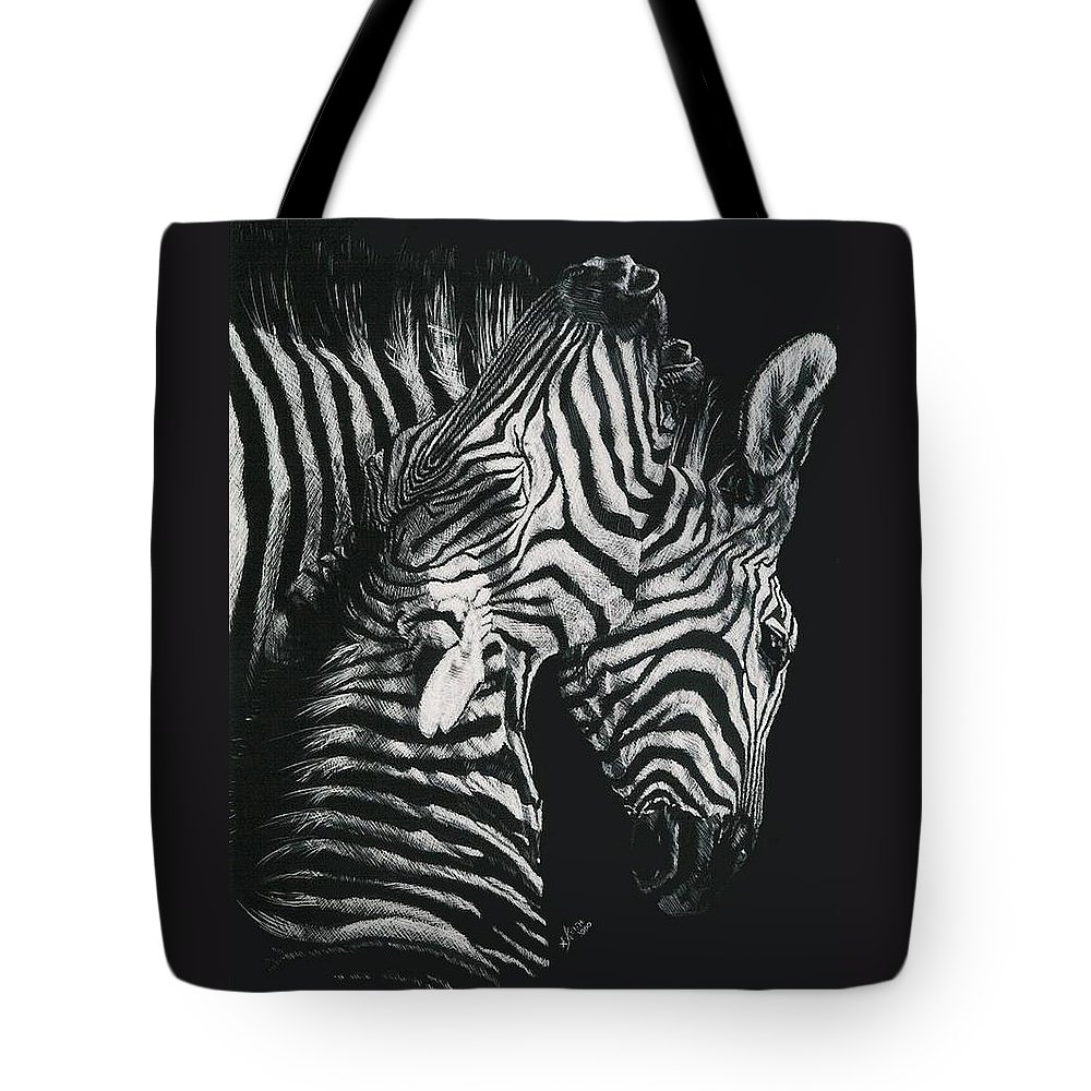 Art Tote Bag featuring the drawing Youngbloods by Barbara Keith