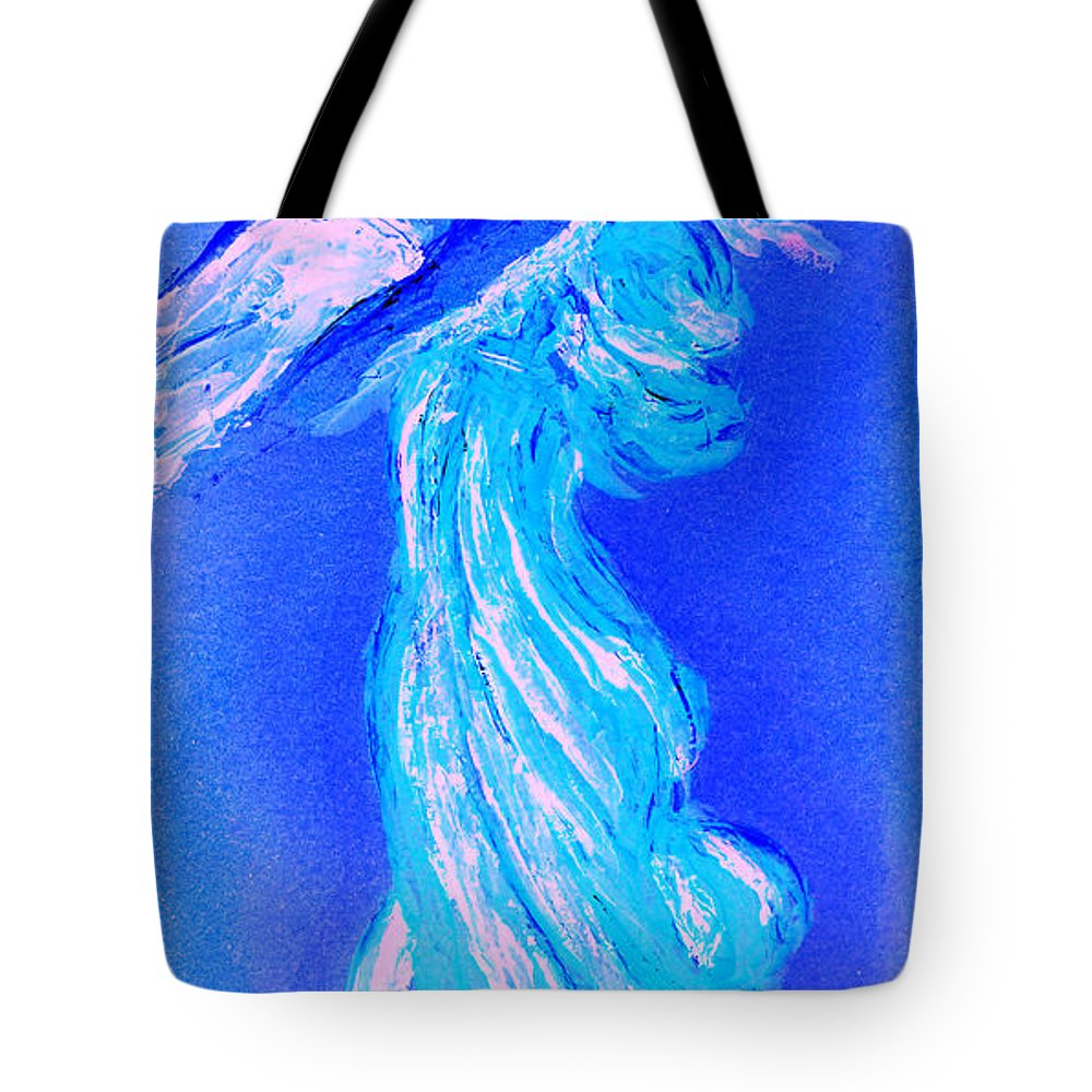 Angel Tote Bag featuring the painting Your Angel Is Waiting II by Giorgio Tuscani