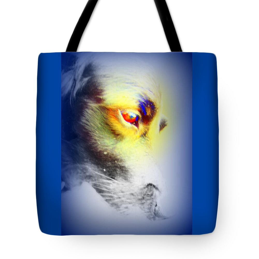 Eye Tote Bag featuring the photograph I Love Your Look And You Love To Look At Me   by Hilde Widerberg