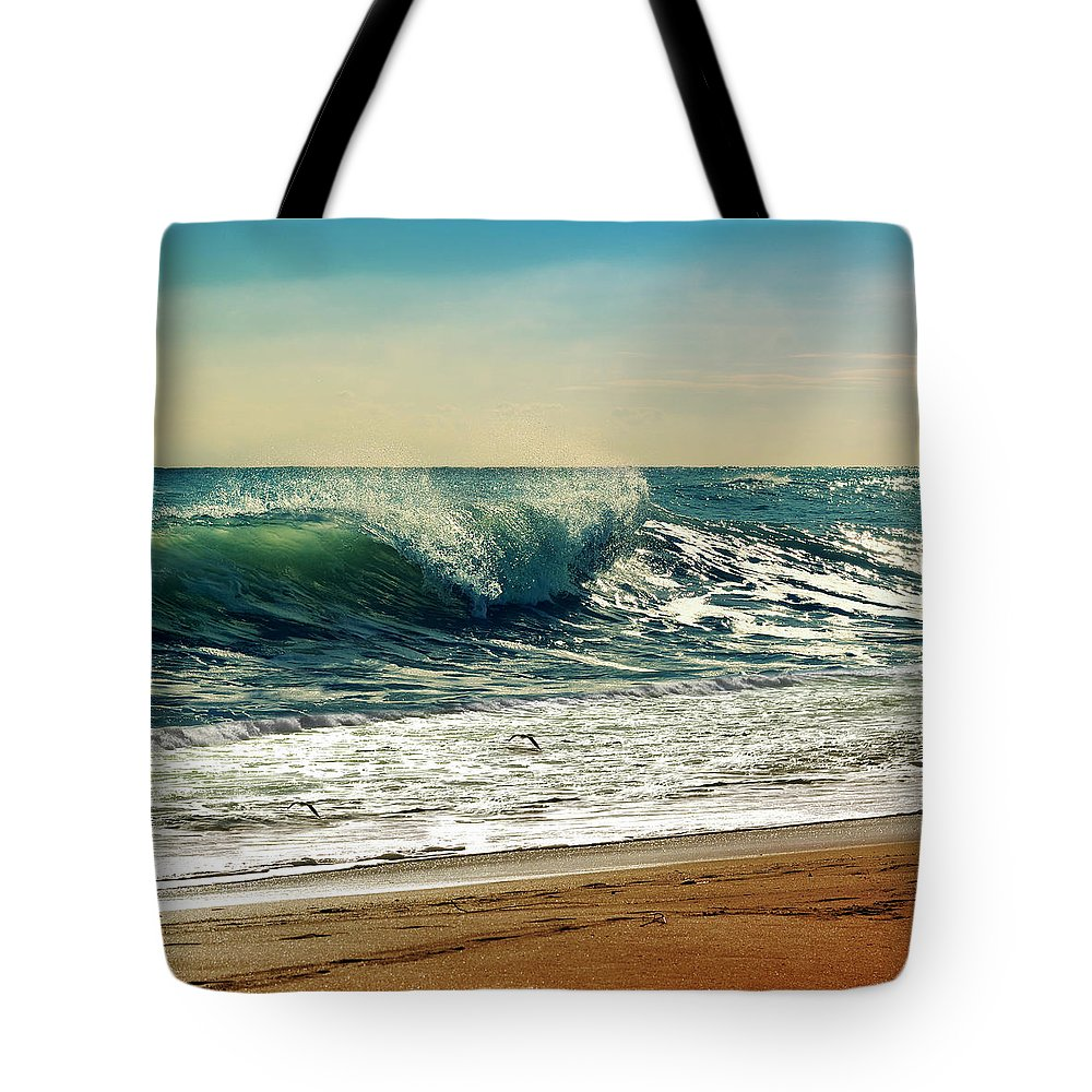 Waves Tote Bag featuring the photograph Your Moment Of Perfection by Laura Fasulo