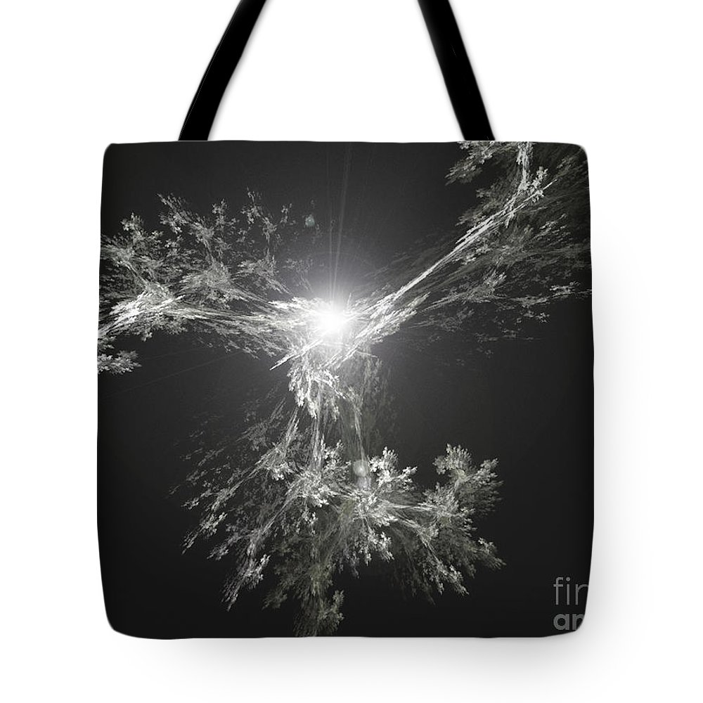 2-dimensional Tote Bag featuring the digital art Rise by Dana Haynes