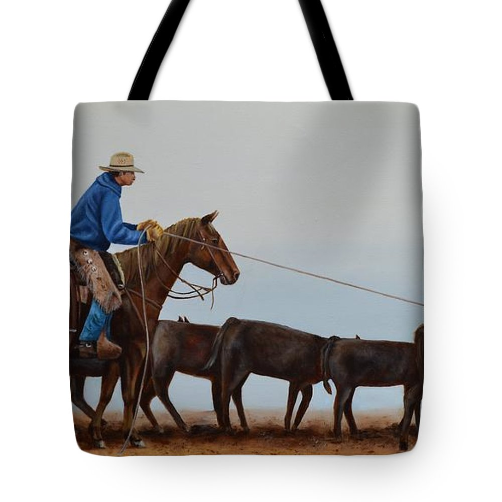 Art Tote Bag featuring the painting You're Next by Mary Rogers