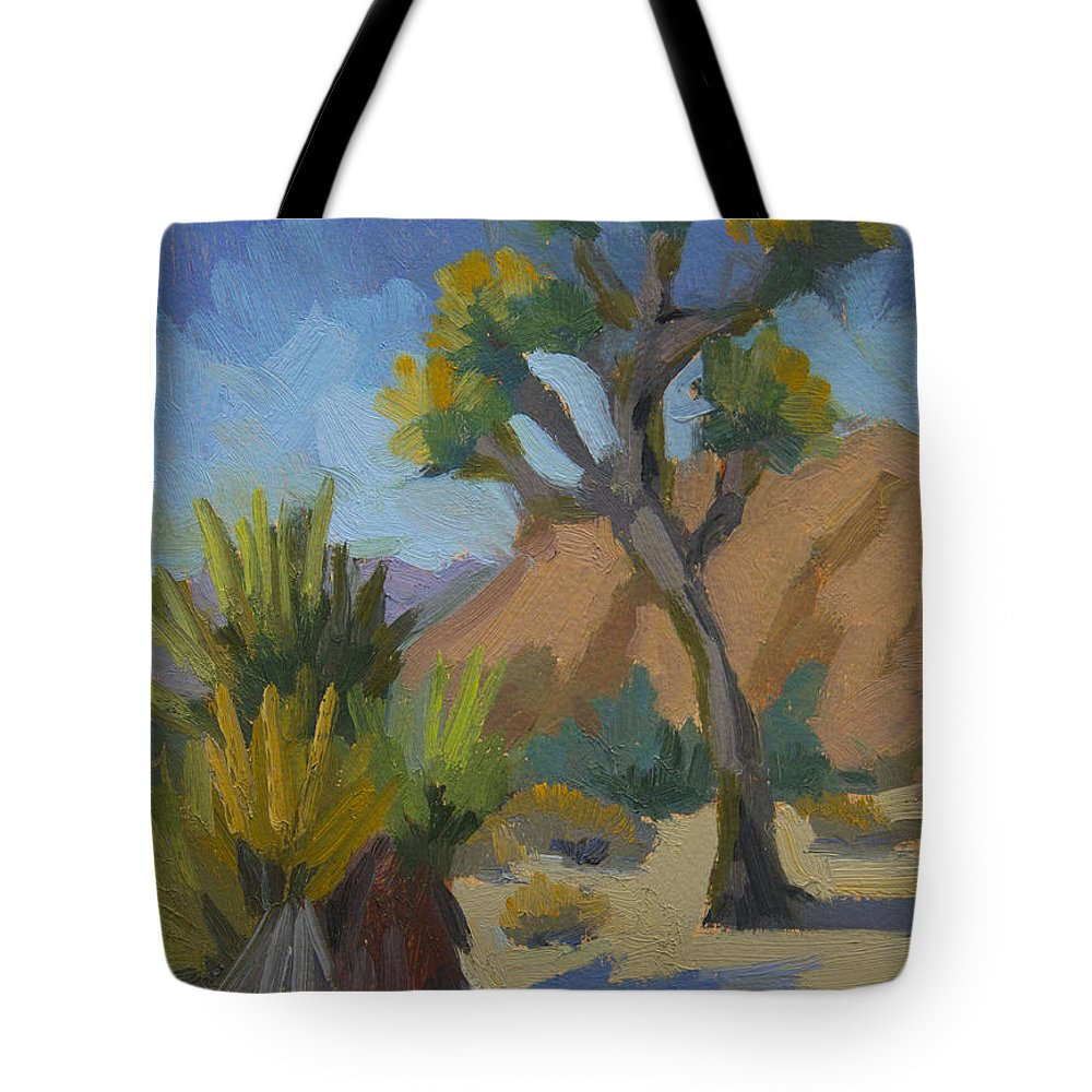 Yucca Tote Bag featuring the painting Yucca And Joshua by Diane McClary